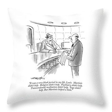 It Was A Very Bleak Period In My Life Throw Pillow