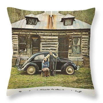 It Was The Only Thing To Do After The Mule Died Throw Pillow by Georgia Fowler