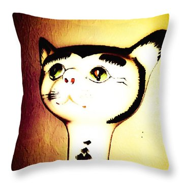 It Wasn't Me Throw Pillow by Lady Ex