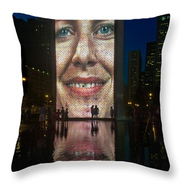 It Winds From Chicago Throw Pillow by Gary Warnimont
