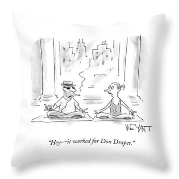 It Worked For Don Draper Throw Pillow