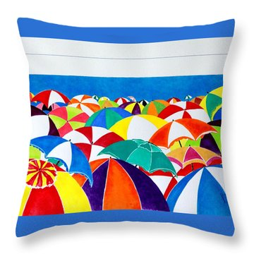 Italian Beach Throw Pillow