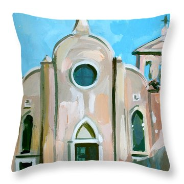 Italian Church Throw Pillow by Filip Mihail