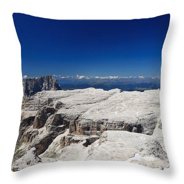 Italian Dolomites - Sella Group Throw Pillow
