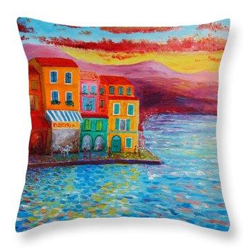 Italian Dream Throw Pillow by Bozena Zajiczek-Panus