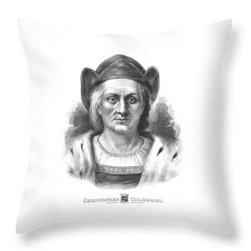 Italian Explorer Christopher Columbus Throw Pillow by War Is Hell Store