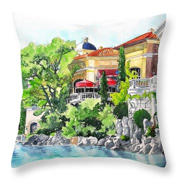 Throw Pillow featuring the painting Italian Fantasy by Tom Riggs