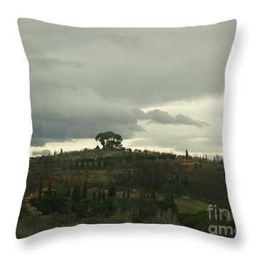 Throw Pillow featuring the photograph Italian Hillside by Robin Maria Pedrero