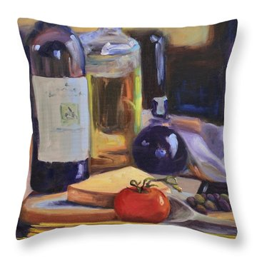 Italian Kitchen Throw Pillow by Donna Tuten