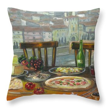 Italian Lunch Throw Pillow