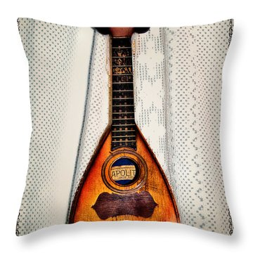 Italian Mandolin Throw Pillow by Bill Cannon