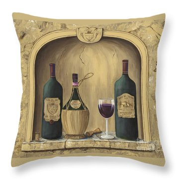 Italian Reds Throw Pillow by Marilyn Dunlap