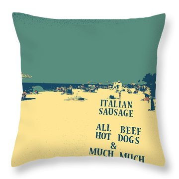 Italian Sausage Throw Pillow