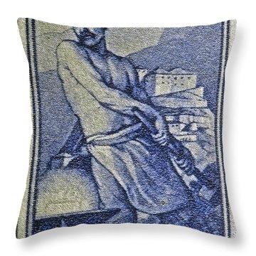Italian Stamp - Circa 1955  Throw Pillow by Bill Owen