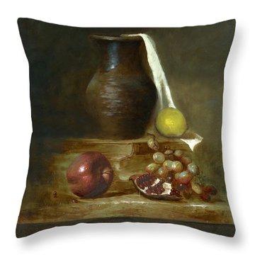 Italian Still Life Throw Pillow by Cecilia Brendel
