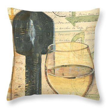 Italian Wine And Grapes 1 Throw Pillow by Debbie DeWitt
