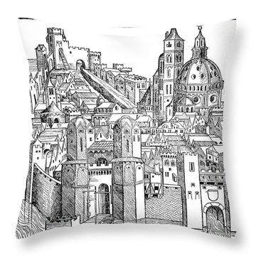 Italy - Padua 1493 Throw Pillow by Granger