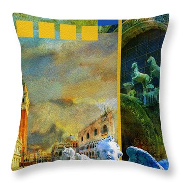 Italy 04 Throw Pillow by Catf