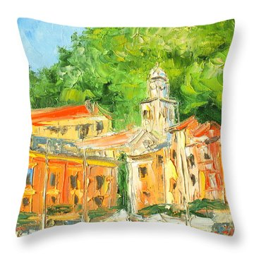 Italy - Portofino Throw Pillow