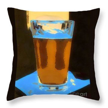 Throw Pillow featuring the painting It's 5 O'clock Somewhere by Elizabeth Coats
