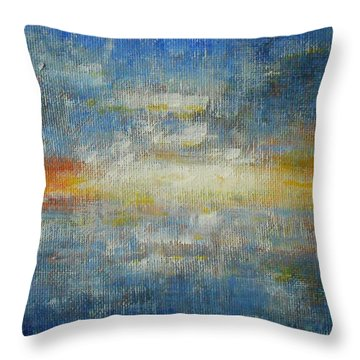 It's A Beautiful Day - Sapphire Throw Pillow