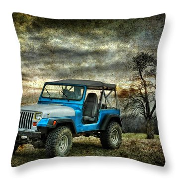 It's A Jeep Thing Throw Pillow by Sami Martin