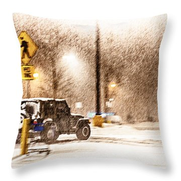 It's A Jeep Thing Throw Pillow by Sennie Pierson