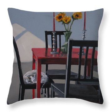 Throw Pillow featuring the painting Its A New Day by Karen Ilari