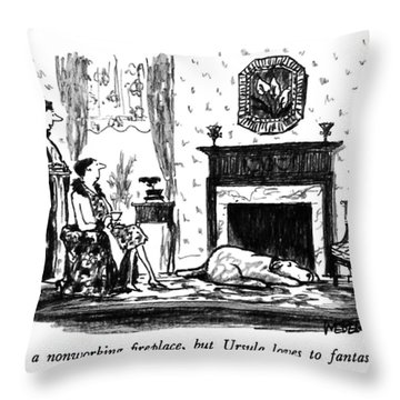 It's A Nonworking Fireplace Throw Pillow