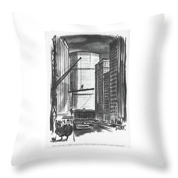 It's A Sad State Of Affairs When Lever House Throw Pillow
