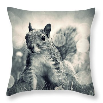 It's A Squirrel's World Too Throw Pillow