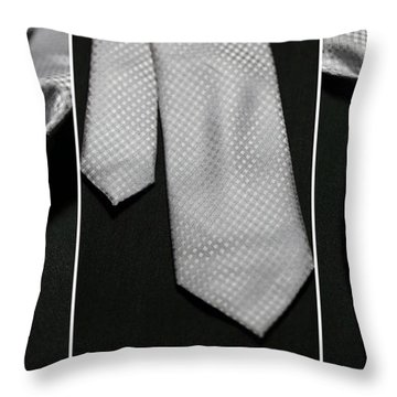 Throw Pillow featuring the photograph It's A Tie - Triptych by Trish Mistric
