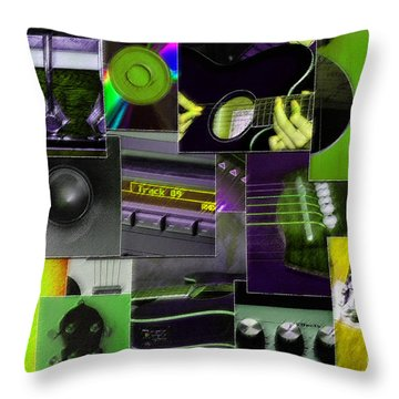 It's All About Music Throw Pillow by Randi Grace Nilsberg