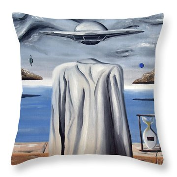 Throw Pillow featuring the painting Its All In Your Head by Ryan Demaree