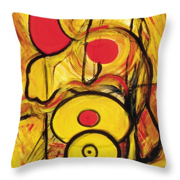 Throw Pillow featuring the painting It's All Relative by Stephen Lucas