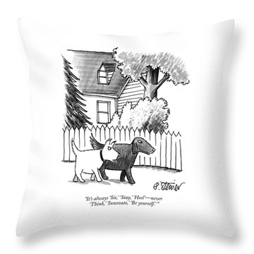It's Always 'sit Throw Pillow by Peter Steiner