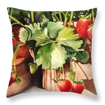 It's Berry Season Throw Pillow