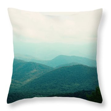 Throw Pillow featuring the photograph It's Better In The Mountains by Kim Fearheiley