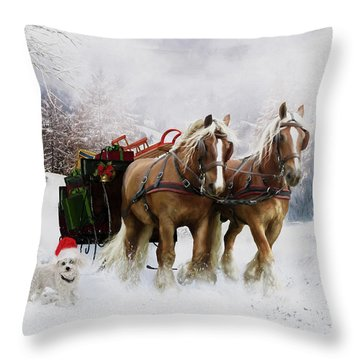 A Christmas Wish Throw Pillow