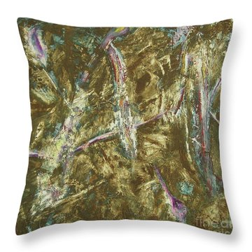 Throw Pillow featuring the painting It's Crazy Out There by Mini Arora