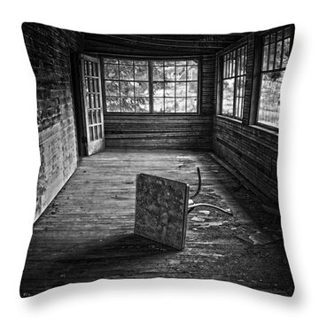Throw Pillow featuring the photograph It's Empty Now by Debra Fedchin
