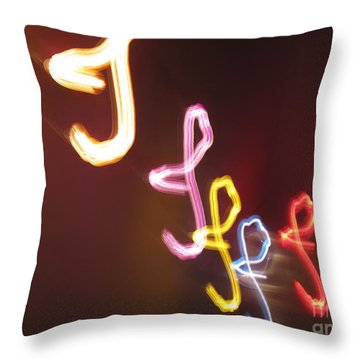 Throw Pillow featuring the photograph It's I... I... And More Of I. Dancing Lights Series by Ausra Huntington nee Paulauskaite