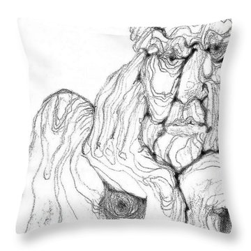Throw Pillow featuring the digital art It's In The Grain by Carol Jacobs