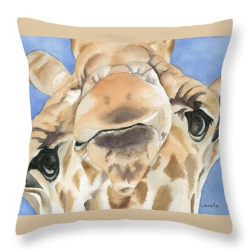 It's Lonely At The Top Throw Pillow by Kimberly Lavelle