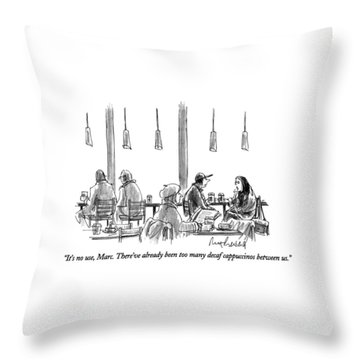 It's No Use Throw Pillow