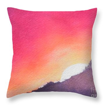 It's Not About The Climb  Rather What Awaits You On The Other Side Throw Pillow by Chrisann Ellis