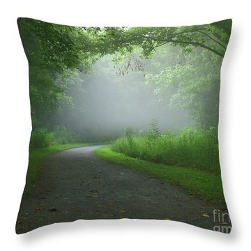 Mystery Walk Throw Pillow