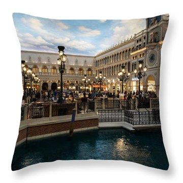 It's Not Venice Throw Pillow