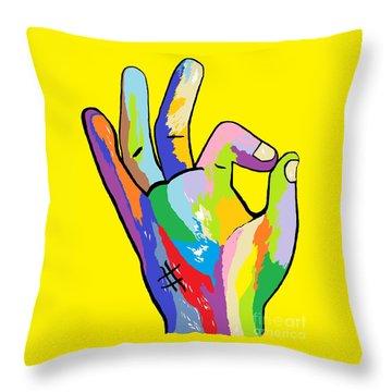 It's Ok Throw Pillow by Eloise Schneider