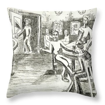 Its On Me Throw Pillow by Genevieve Esson